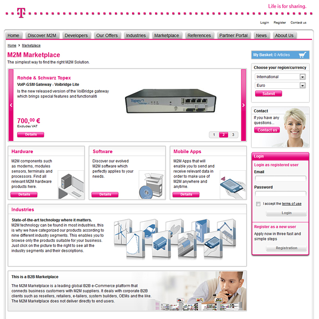 Deutsche Telekom launches first M2M Marketplace