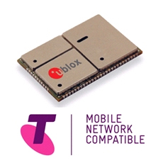 u-blox' LISA 3G module certified as Telstra Mobile Network compatible