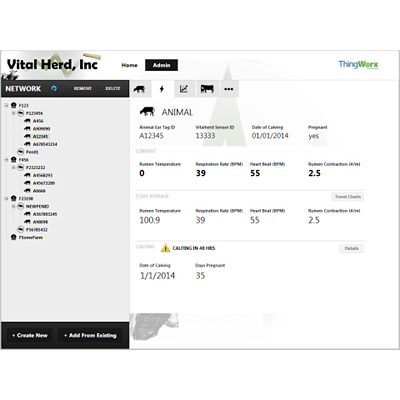 Vital Herd Selects ThingWorx M2M Technology Platform for Livestock Management