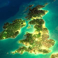 UK satellite view