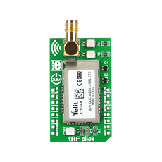 tRF click, the easiest way to prototype with Telit's LE70-868 module