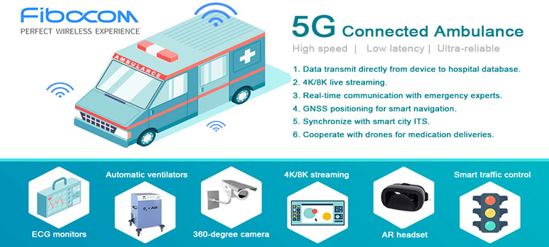Fibocom 5G connected ambulance use cases
