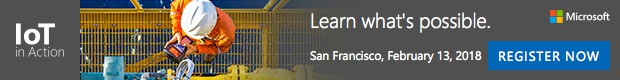 Register for free for IoT in Action San Francisco, Feb.13, 2018