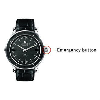 Limmex watch with emergency button