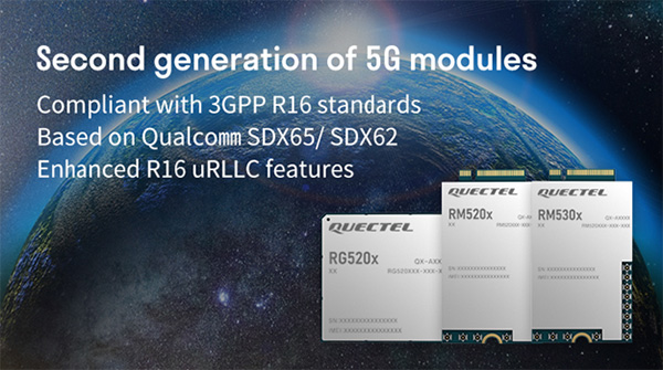 Quectel 2nd gen 5g modules
