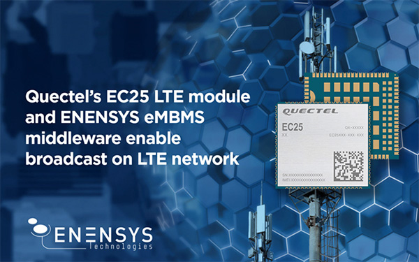 Quectel EC25 LTE module with ENESYS agent