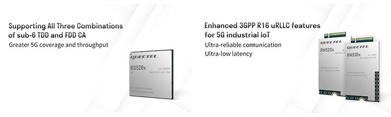 Quectel RG520x, RM520x, RM530x 5G modules
