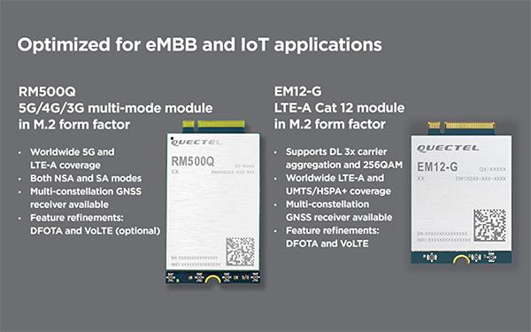 Quectel RM500Q and EM12-G modules