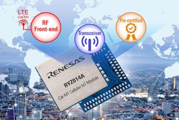 Renesas Launches LTE CAT-M1 Module For Massive IoT