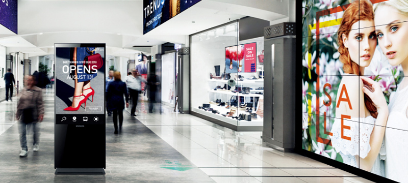 connected digital signage