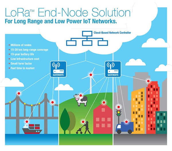 LoRa use cases illustration