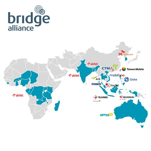 Bridge M2M Alliance coverage map