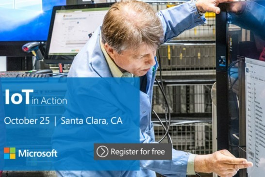 IoT in Action Santa Clara – October 25, 2018 : last chance to register for free