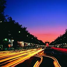Paris street city lights