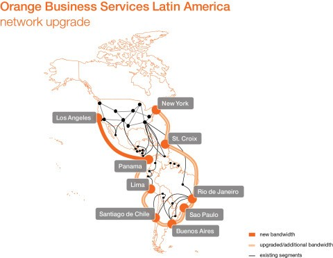 Orange Business Services to Increase Network Capacity across Latin America by Tenfold
