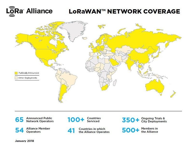 LoRaWAN coverage map