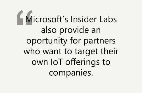 Microsoft IoT Insider Lab quote