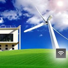 solar panel and wind turbine