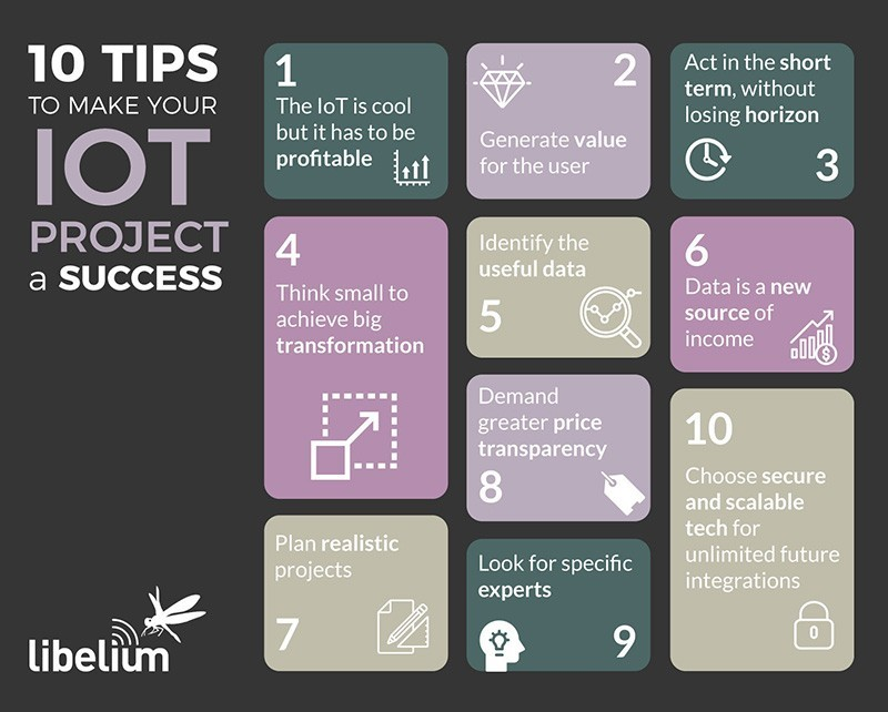 infographic: 10 tips for successfull IoT projects